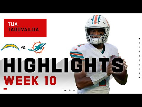 Tua Tagovailoa Leaves the Chargers on Empty w 2 TDs NFL 2020 Highlights