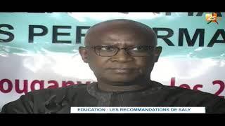 EDUCATION : LES RECOMMANDATIONS DE SALY