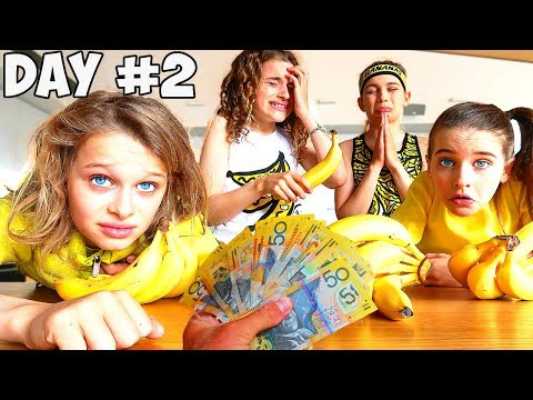 LAST TO STOP EATING BANANAS Challenge family meltdown w The Norris Nuts