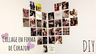 Collage En Forma de Corazon | DIY