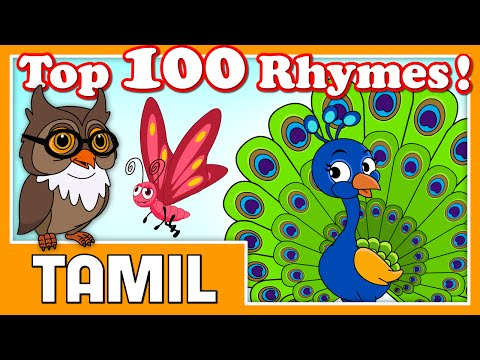 Top 100 Hit Tamil Nursery Rhymes For Kids   Over 3 Hours!   HD Cartoon Songs   Chellame Chellam