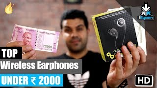 Top Sport Bluetooth Wireless Earphones Under Rs. 2000