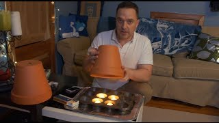CLAY POT with TEA LIGHTS Room Heating   4HR DIY Test