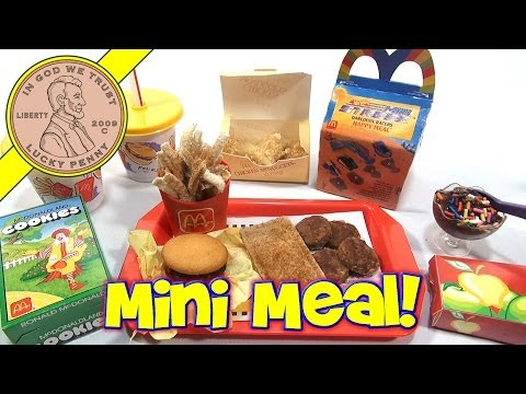 watch McDonald's Mini Happy Meal - Complete Toy Food Maker | Kid's Meal Toys | LuckyPennyShop.com