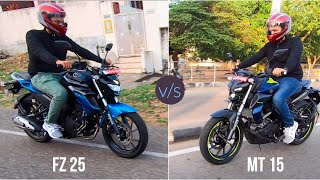 Yamaha MT-15 V/s Yamaha FZ 25 Detailed Comparison.