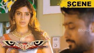 Surya As Raju Bhai Kidnaps Samantha And Demands To Release His Gang - Sikandar Movie Scenes