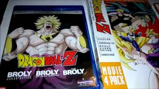 Dragon Ball Z Broly Triple Feature Unboxing #5 - Blu Ray New