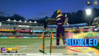 kkr vs gl match highlight in ipl on 21/4/17 with wcc2