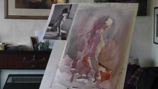 Painting the Nude in Watercolour Demonstration by Anthony Barrow BA MIFL