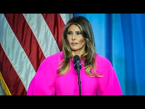 Melania Trump Gives Anti-Bullying Speech, Never Mentions Her Husband's Horrible Behavior
