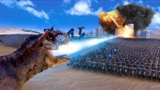 DINOSAUR LASER PARTY! | Ultimate Epic Battle Simulator HD