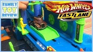 Car Toys for Kids - Fast Lane Color Change Car Wash Playset - Hot Wheels Color Changer Color Shifter