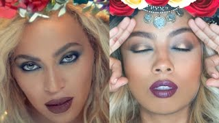 Beyoncé 'Hymn for the Weekend' Makeup and Hair Tutorial | TALI QUINDIO