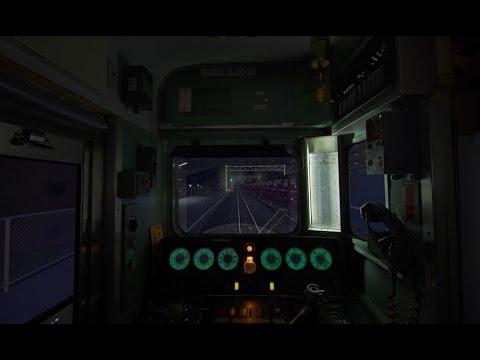 BVE trainsim 自宅運転台 夜間運転 テスト2