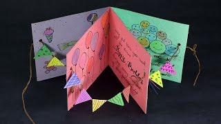DIY Birthday Card - Handmade Happy Birthday Card Making Step by Step