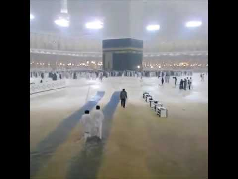 Rain in Makkah What a Beautiful scene Blessing Allah s Home