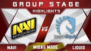 NaVi vs Liquid Midas Mode 2017 Highlights Dota 2