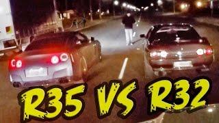 2000hp Street Race - R32 GT-R vs R35 GT-R!