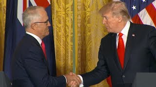 President Donald Trump Australian Prime Minister Turnbull hold joint news conference | ABC News