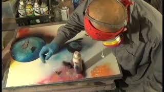 spray paint art -_-_ recreation of the EPIC 2015 full length