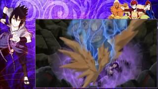 Sasuke vs Kages (sub español)