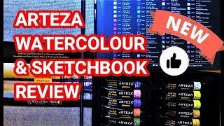 ARTEZA Watercolour Paint & Watercolour Travel Journal - Sketchbook Review
