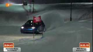 Crazy Race: Ski Racer vs. Subaru 400Hp