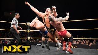 Heavy Machinery vs. vs. Jonathan Ortagun & Mike Marshall: WWE NXT, March 29, 2017