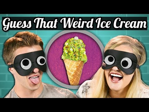GUESS THAT WEIRD ICE CREAM CHALLENGE College Kids Vs. Food