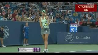 Sharapova VS Stephens Highlight Cincy 2013 R2