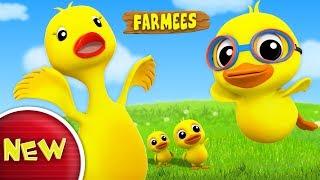 Duckling Duckling Yes Mama   Original Nursery Rhymes   Kids Songs With Farmees   Children Rhymes