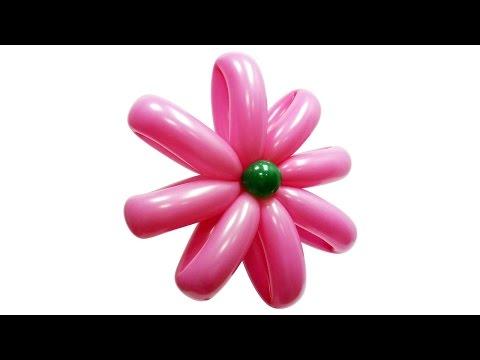 Цветок большой ромашки из воздуш� ых шаров и� струкция