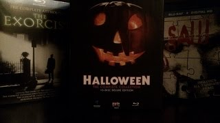 Halloween Deluxe Edition, Saw, & Exorcist Complete Blu-ray Collections Unboxing & Review!