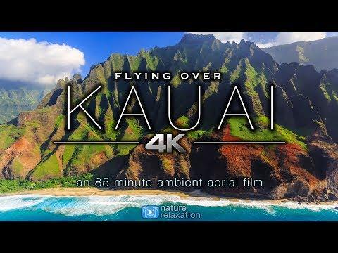 Xxx Mp4 FLYING OVER KAUAI 4K Hawaii S Garden Island Ambient Aerial Film Music For Stress Relief 1 5HR 3gp Sex