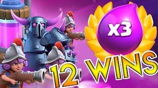 12WINS Triple Elixir Challenge || Clash Royale