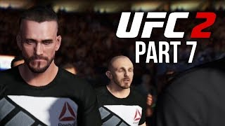 UFC 2 Gameplay Walkthrough Part 7 - CM PUNK & HENDRICKS (Career Mode)