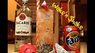Cocktail z dračího ovoce (Pitahaya) ● Dragon fruit cocktail ● Wake'n Shake #4