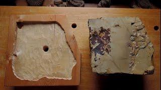 茨城県産赤沢砥を使って会津鉋重利二寸を研ぎ上げる