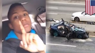 Epic crash livestream fail: Man livestreams himself speeding at 115mph and crashes - TomoNews