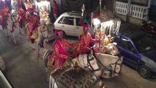 Indian muslim wedding procession parade in Jaipur