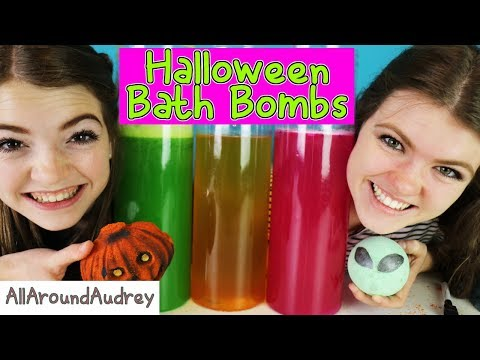 Halloween BATH BOMB Challenge GONE WRONG A Big SPOOPY MESS AllAroundAudrey