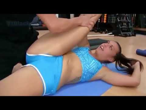 INSTRUCTOR AND 4 GIRLS SEXY IN THE GYM ROOM