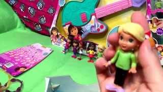 Dora And Friends Into The City Animal Adoption and Cabana Playsets Plus Alana Emma Kate Naiya Guitar