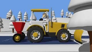Tractor fairy tale for Kids and Snow | Winter | Traktorek Dla Dzieci - Na Ratunek Autku