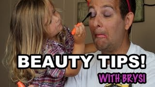 BEAUTY TIPS WITH BRYSI | KIDS DO MY MAKEUP