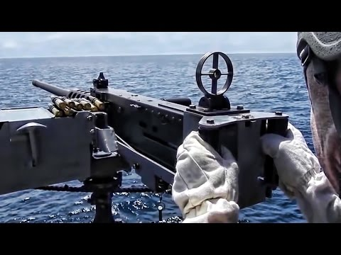 50 Cal Machine Gun • Look Down The Sights Of Browning M2