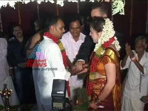 Boy from Kozhikode married German girl in Kerala style