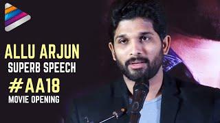 Allu Arjun Superb Speech in Tamil | Allu Arjun and Lingusamy New Movie Opening | Telugu Filmnagar