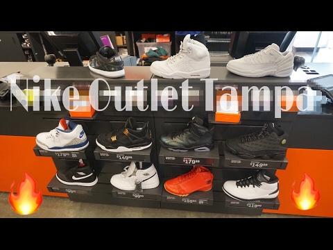 Nike Outlet Vlog, Tampa FL | Jordan Pure Platinum 5's