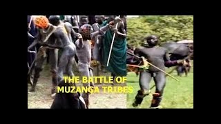 THE BATTLE OF MUZANGA TRIBES African Primitives Cultures Lost Tribes of Africa [N 2016]